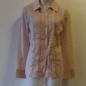 STRENESSE LIGHT PINK BUTTON DOWN TOP SZ S*
